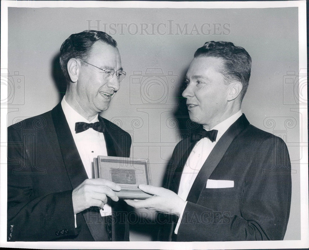 1960 Denver, Colorado Dentist Dr. Miles Markley & Dr. Thomas Hicks Press Photo - Historic Images