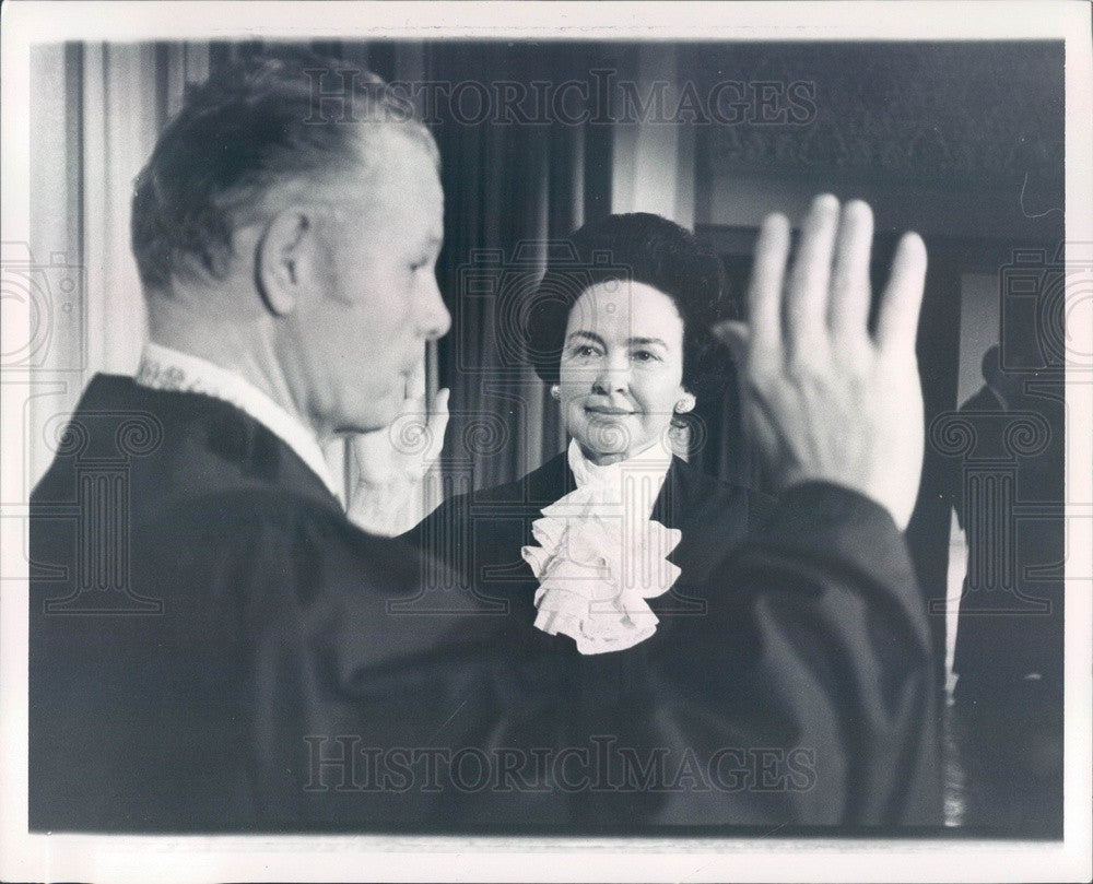 1972 Detroit, Michigan Justice Mary Coleman, Judge Creighton Coleman Press Photo - Historic Images