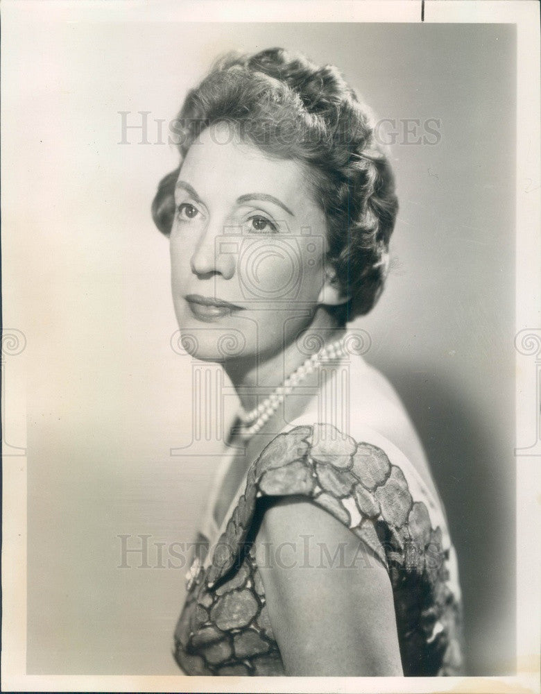 1966 NBC News United Nations Correspondent Pauline Frederick Press Photo - Historic Images