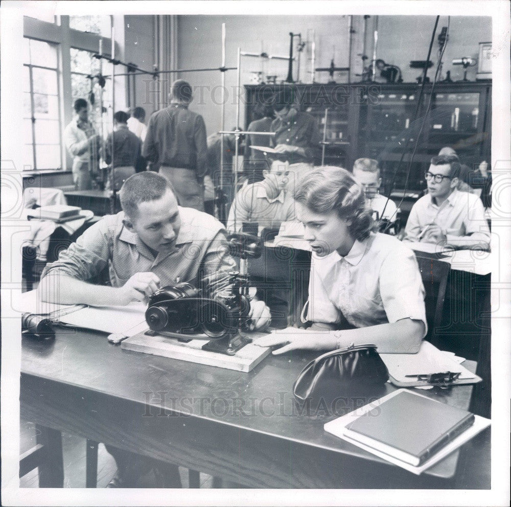 1961 Holland, Michigan Hope College Classroom Press Photo - Historic Images