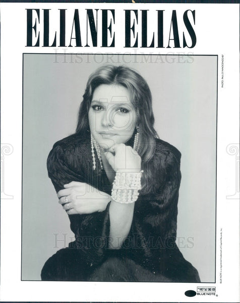 1987 Brazilian Jazz Pianist/Singer/Songwriter Elaine Elias Press Photo - Historic Images