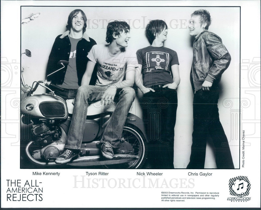 2003 American Rock Band The All-American Rejects Press Photo - Historic Images
