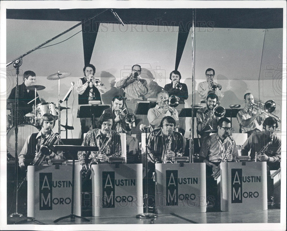 1973 Jazz Group The Austin Moro Band Press Photo - Historic Images