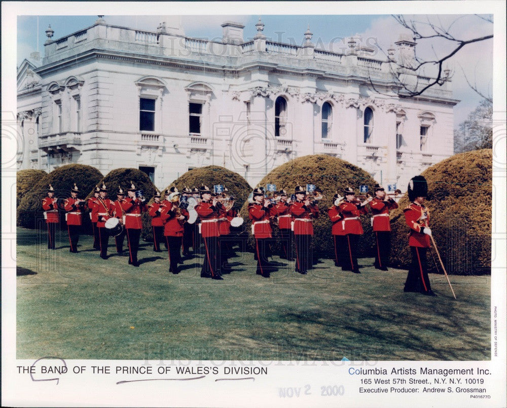 2000 The Band of the Prince of Wales' Division Press Photo - Historic Images