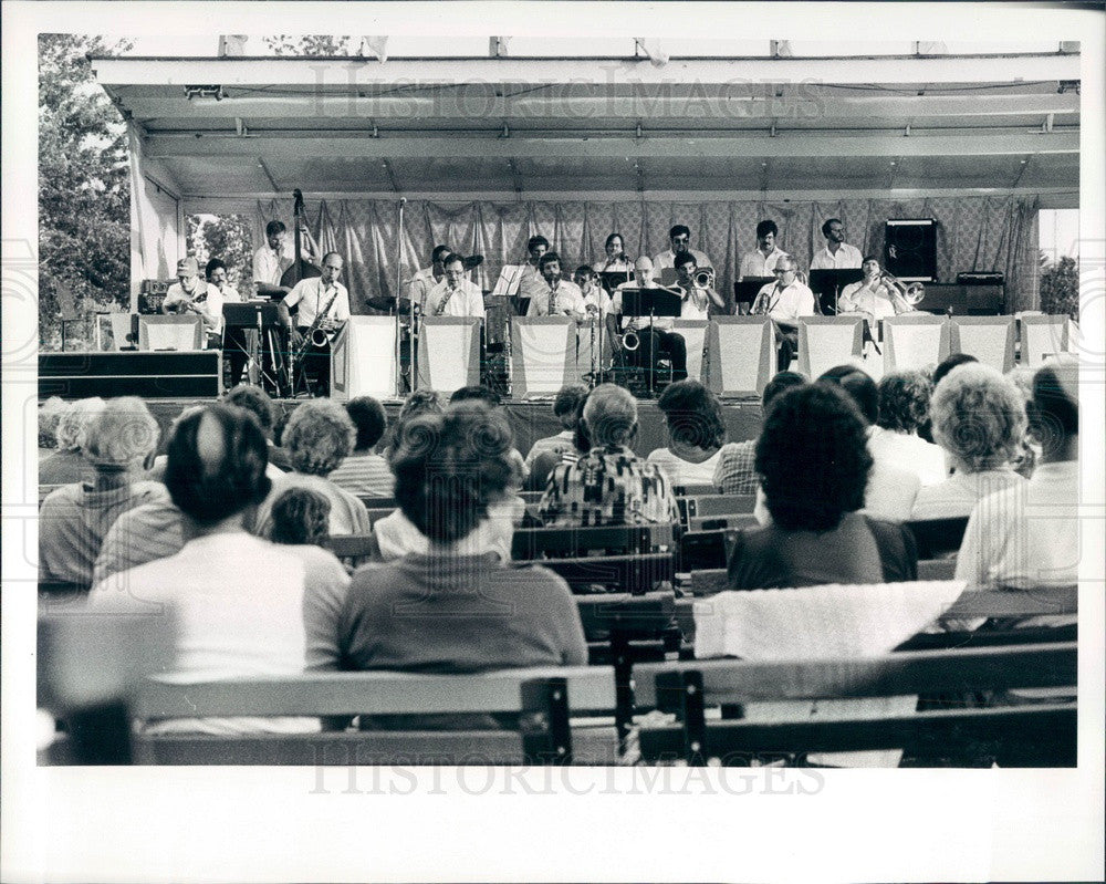 1983 Detroit Michigan The Downriver Big Band Press Photo - Historic Images