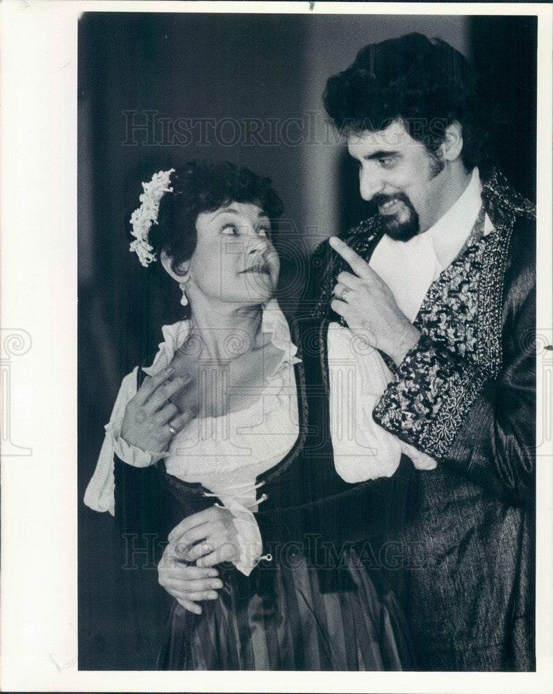 1984 Chicago, IL Opera Theater Enrique Baquerizo & Maria Lagios Press Photo - Historic Images