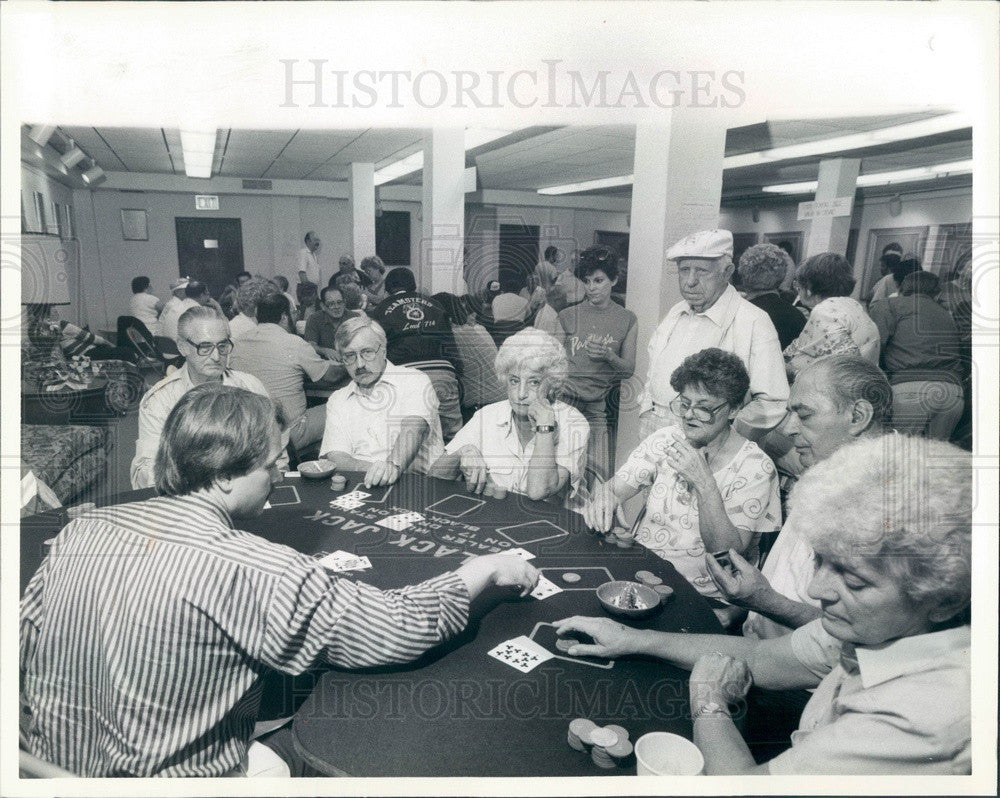 1987 Chicago, Illinois Taste of Polonia, Gambling Press Photo - Historic Images
