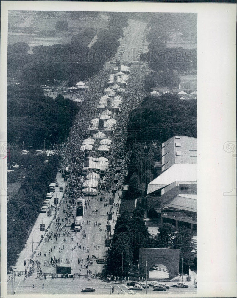 1989 Chicago, Illinois Taste of Chicago Aerial View Press Photo - Historic Images