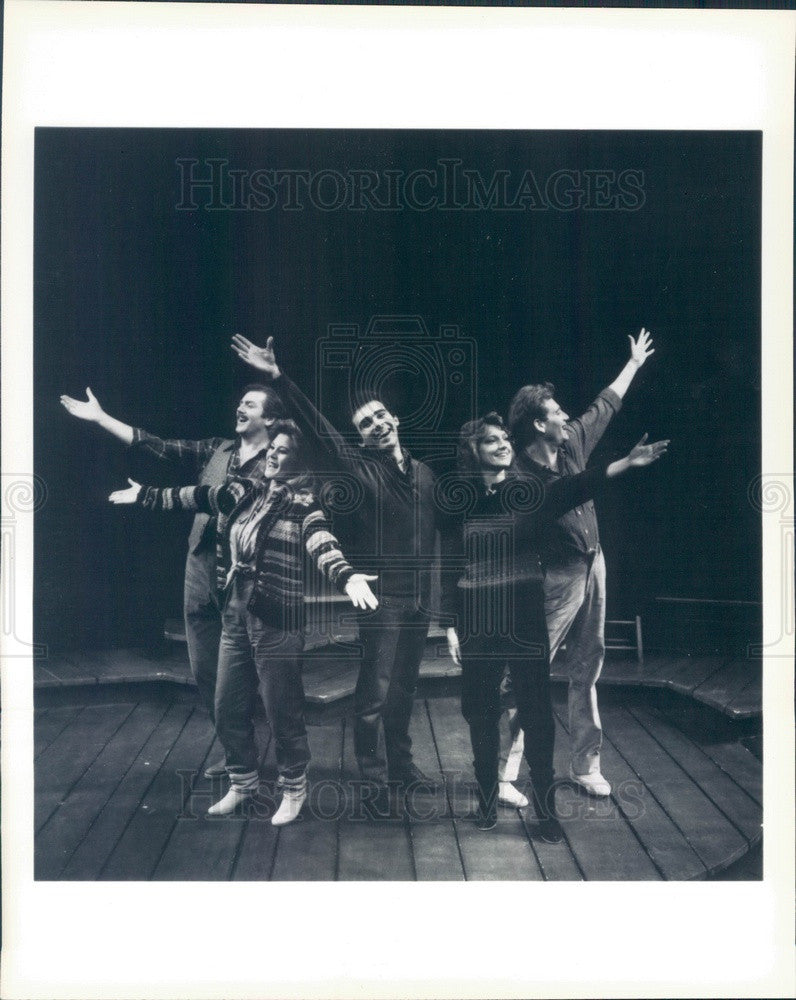 1985 Actors Steve Arlen, Hollis Resnick, John Herrera, Kathy Taylor Press Photo - Historic Images
