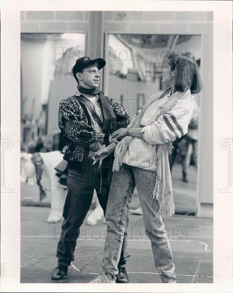 1990 Actors Ross Lehman & Shannon Cochran in Into The Woods Press Photo - Historic Images