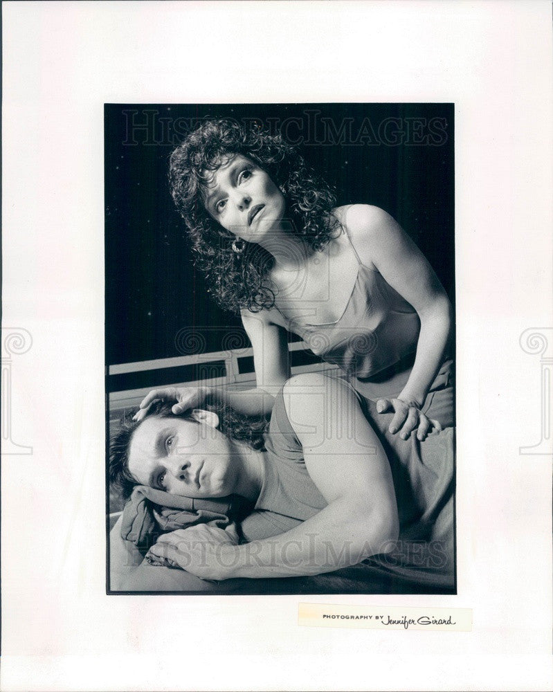 1989 Actors James Mellon & Paula Scrofano in Jesus Christ Superstar Press Photo - Historic Images