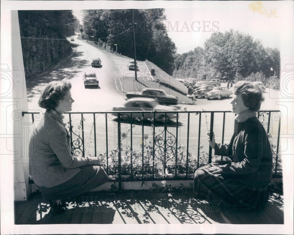 1953 Clarksburg, Massachusetts Mohawk Trail Hairpin Turn Press Photo - Historic Images