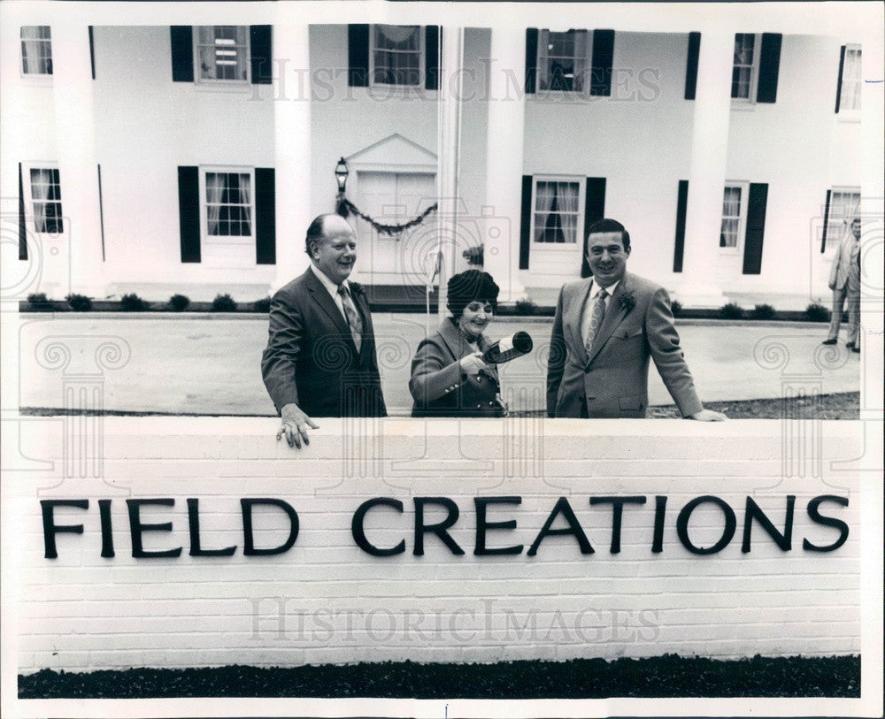 1971 Marietta, Georgia Field Creations Cosmetics Co Christening Press Photo - Historic Images