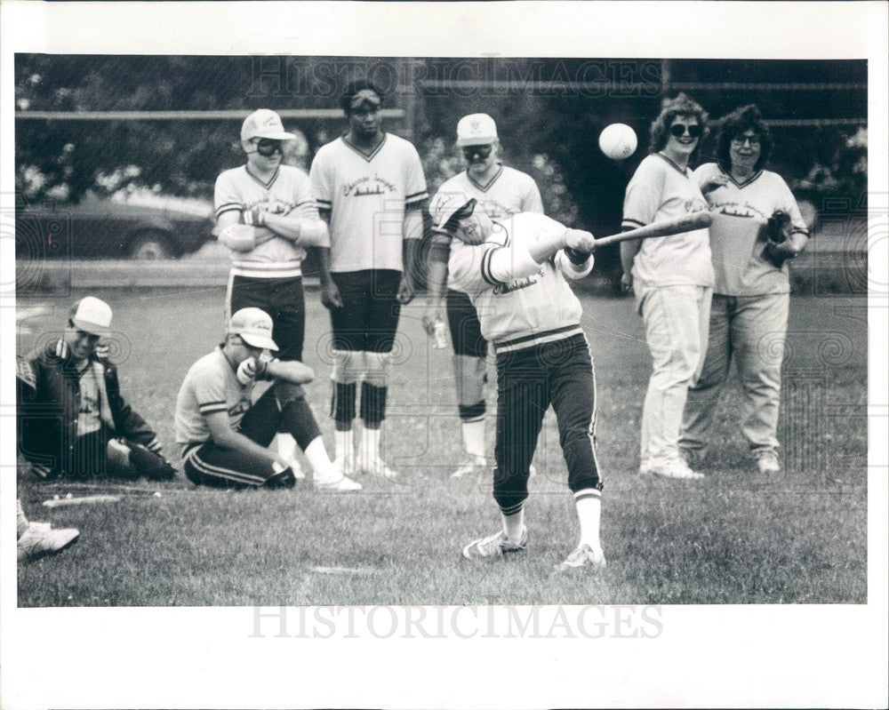1991 Chicago, IL Beep Baseball for Blind Players, Chicago Insights Press Photo - Historic Images