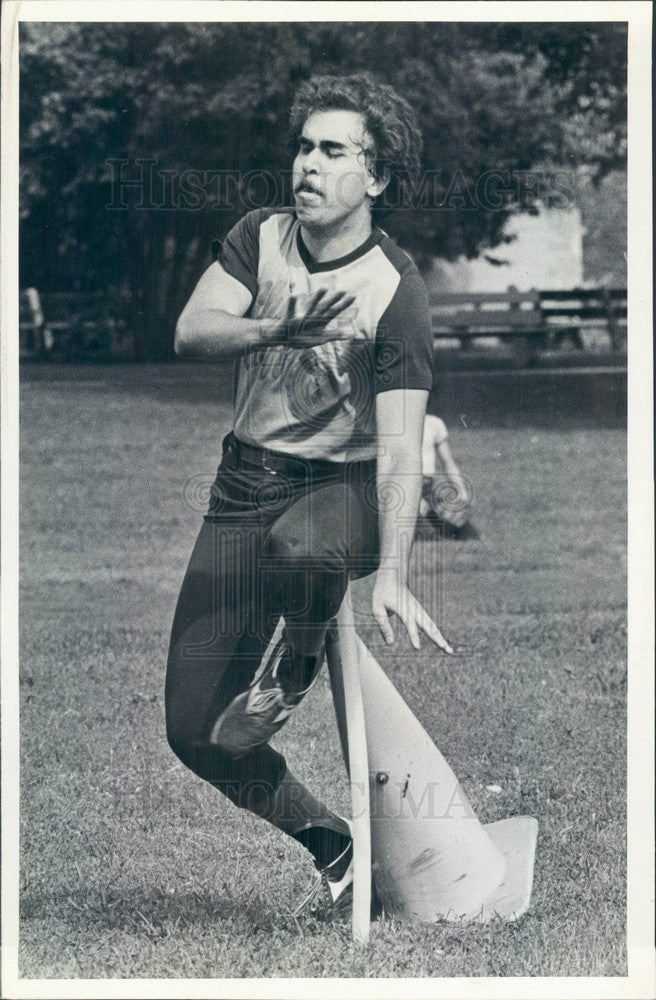 1981 Chicago, IL Beep Baseball for Blind Players, Chicago Bluffs Press Photo - Historic Images