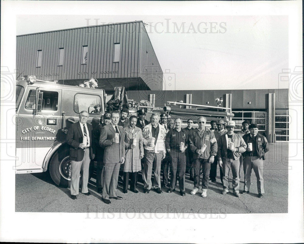 1983 Ecorse, Michigan Old Newsboys Goodfellows Press Photo - Historic Images