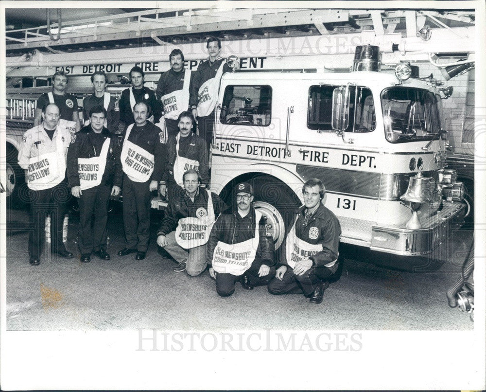 1983 East Detroit, Michigan Old Newsboys Goodfellows Press Photo - Historic Images