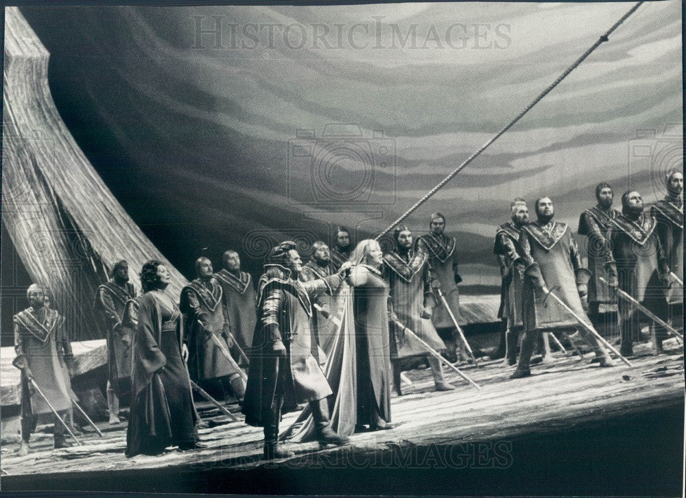 1979 Chicago, Illinois Lyric Opera Tristan and Isolde Scene Press Photo - Historic Images
