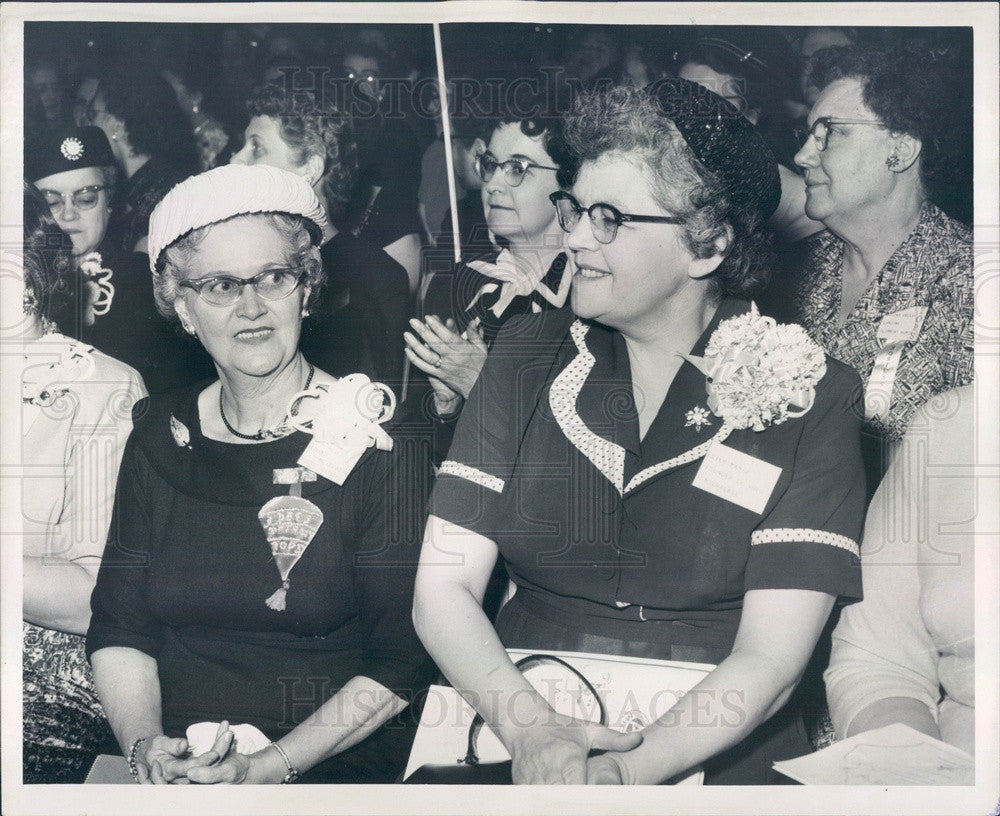 1957 Detroit, MI TOPS Founders Florence McLaughlin & Ester Manz Press Photo - Historic Images
