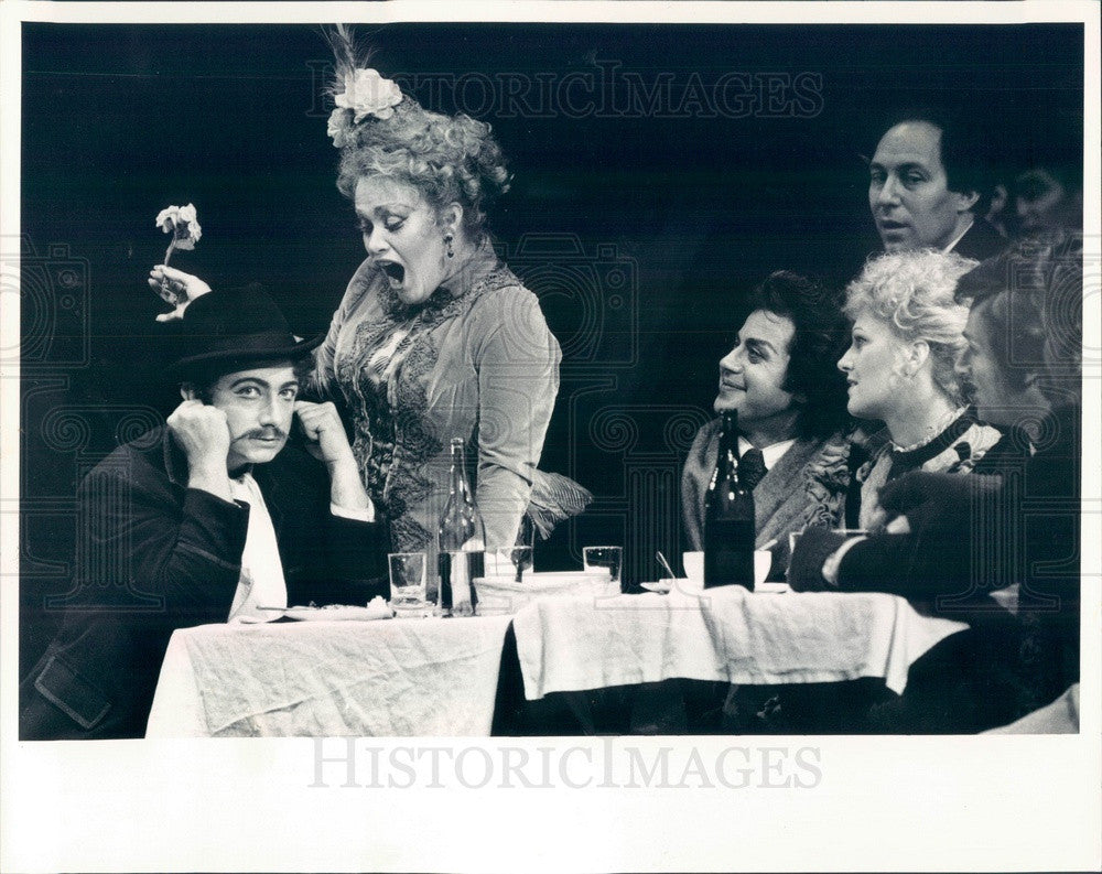 1986 Chicago, Illinois Lyric Opera La Boheme, Alessandro Corbelli Press Photo - Historic Images