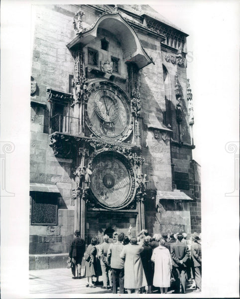 1963 Prague, Czechoslovakia Old Town Hall 500-Year-Old Clock Press Photo - Historic Images