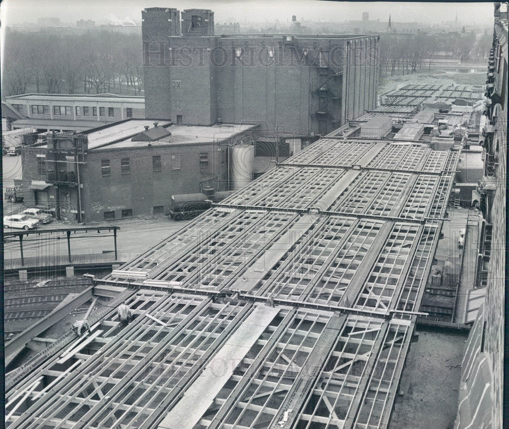 1961 Chicago, IL South Damen Ave Viaduct Construction Aerial View Press Photo - Historic Images