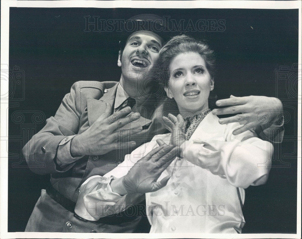 1969 Chicago, Illinois Opera Susan Schevers & Jerome Loeb Press Photo - Historic Images