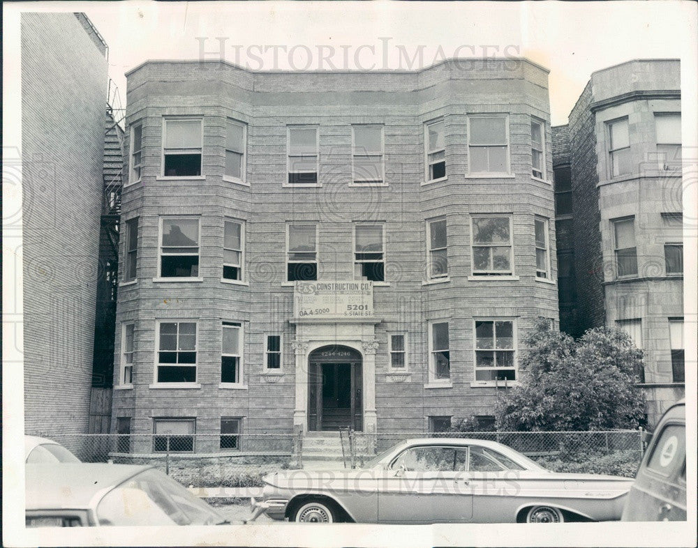 1963 Chicago, Illinois Apartment Building on N Kenmore Press Photo - Historic Images