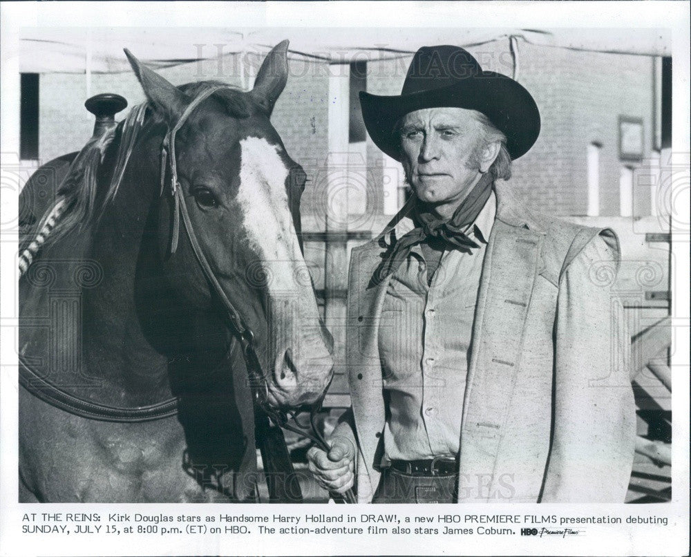 1984 American Hollywood Actor Kirk Douglas Press Photo - Historic Images