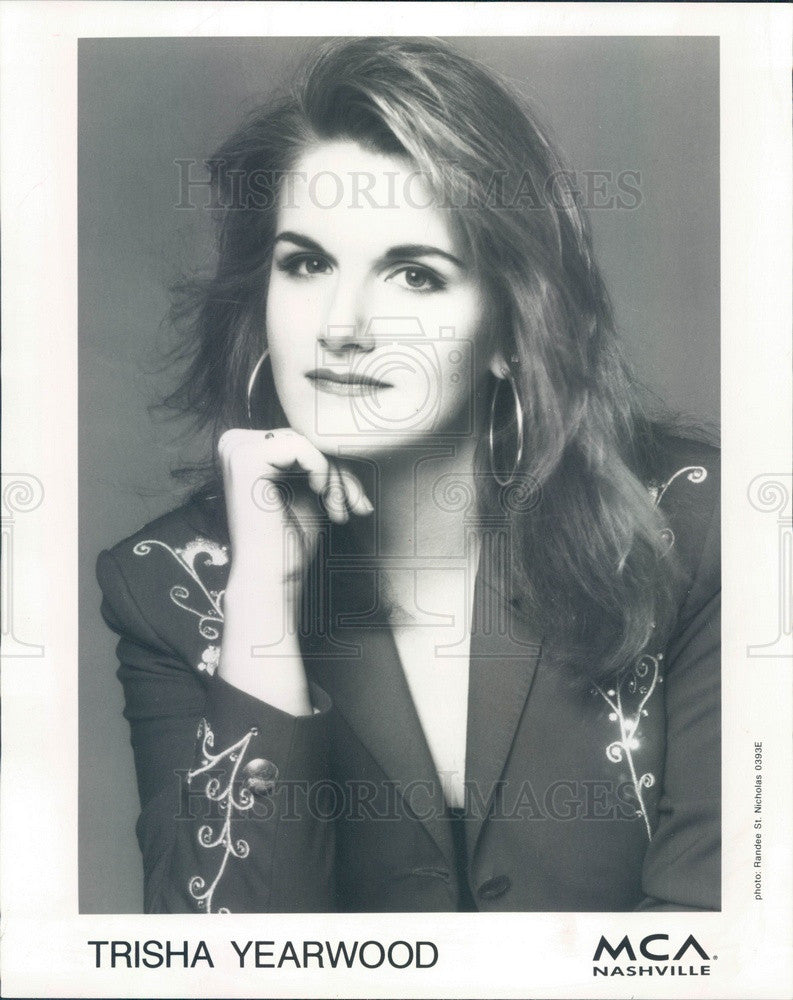 1993 American Country Music Artist Trisha Yearwood Press Photo - Historic Images
