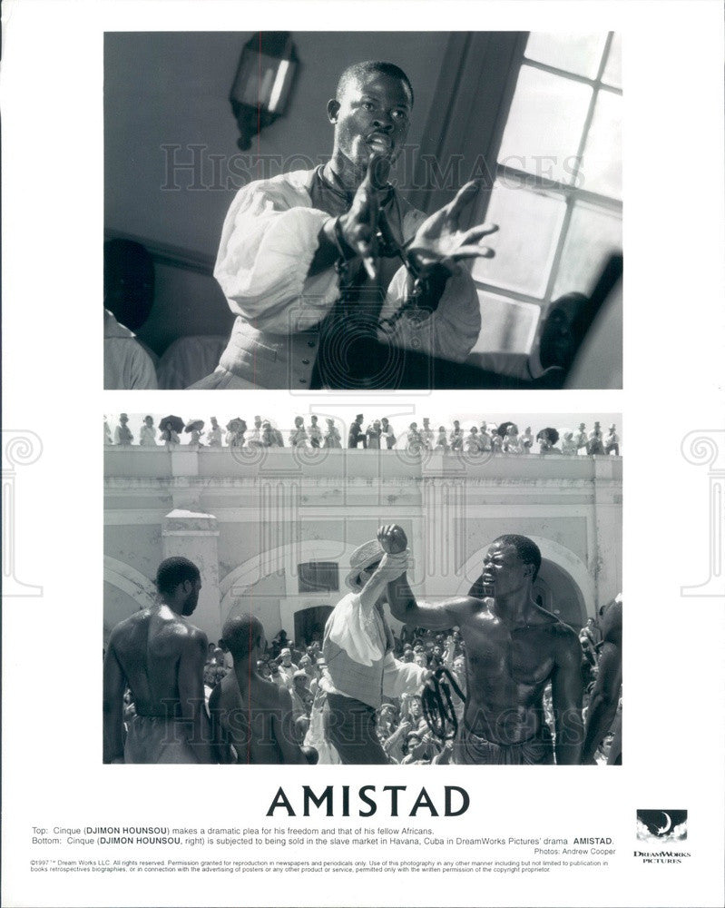 1997 Beninese Actor/Model Djimon Hounsou in Amistad Press Photo - Historic Images