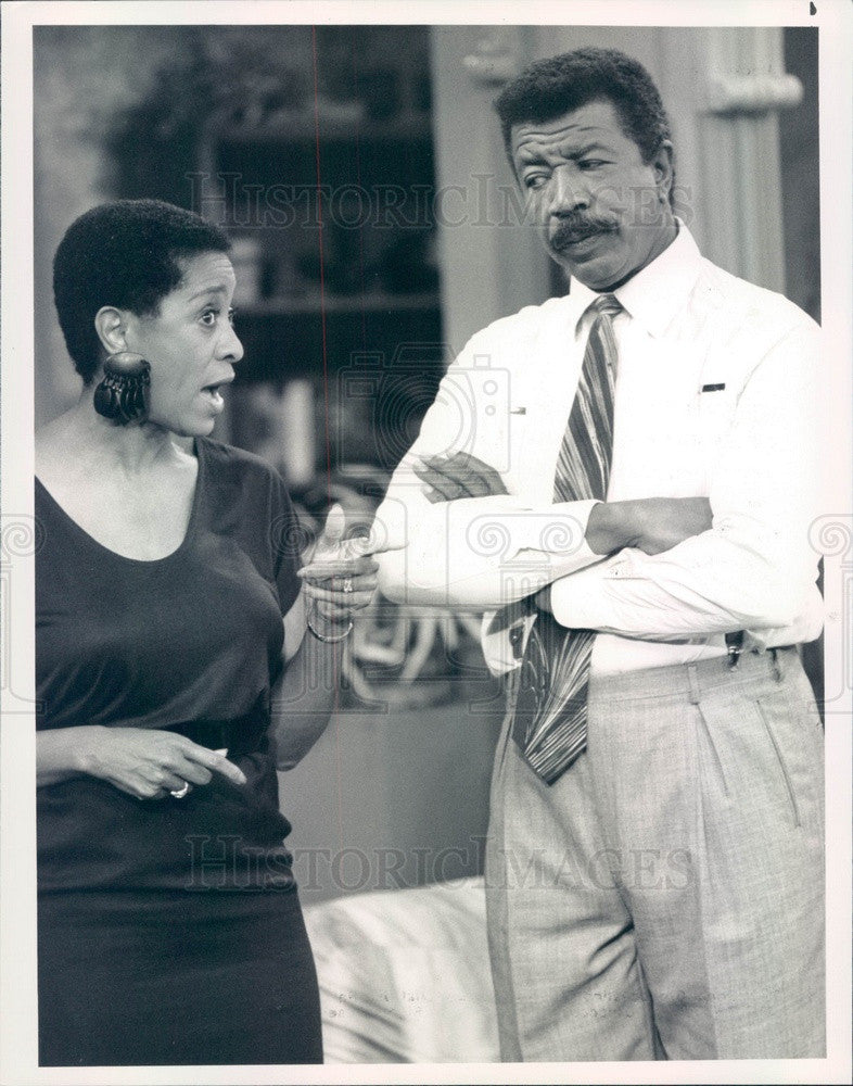 1989 American Hollywood Actors Marla Gibbs & Hal Williams Press Photo - Historic Images