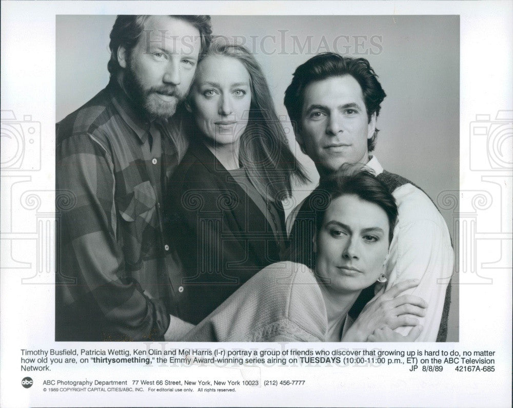 1989 Actor T Busfield/P Wettig/ K Olin/ M Harris in Thirty Something Press Photo - Historic Images
