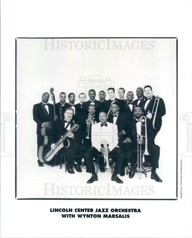 2000 Jazz Trumpeter Wynton Marsalis/Lincoln Center Jazz Orchestra Press Photo - Historic Images