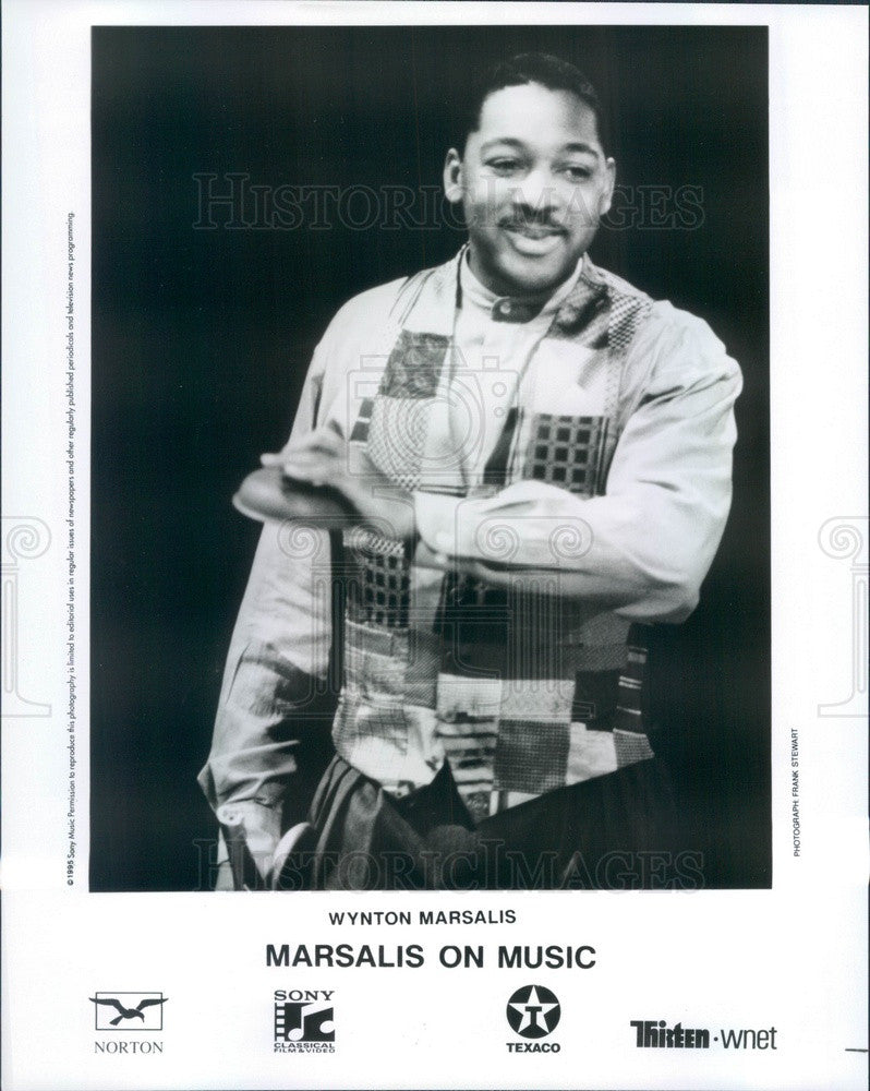 1995 Jazz Trumpeter/Composer Wynton Marsalis Press Photo - Historic Images