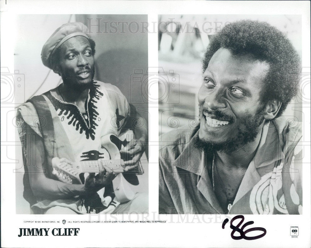 1986 Jamaican Order of Merit Musician/Singer/Actor Jimmy Cliff Press Photo - Historic Images