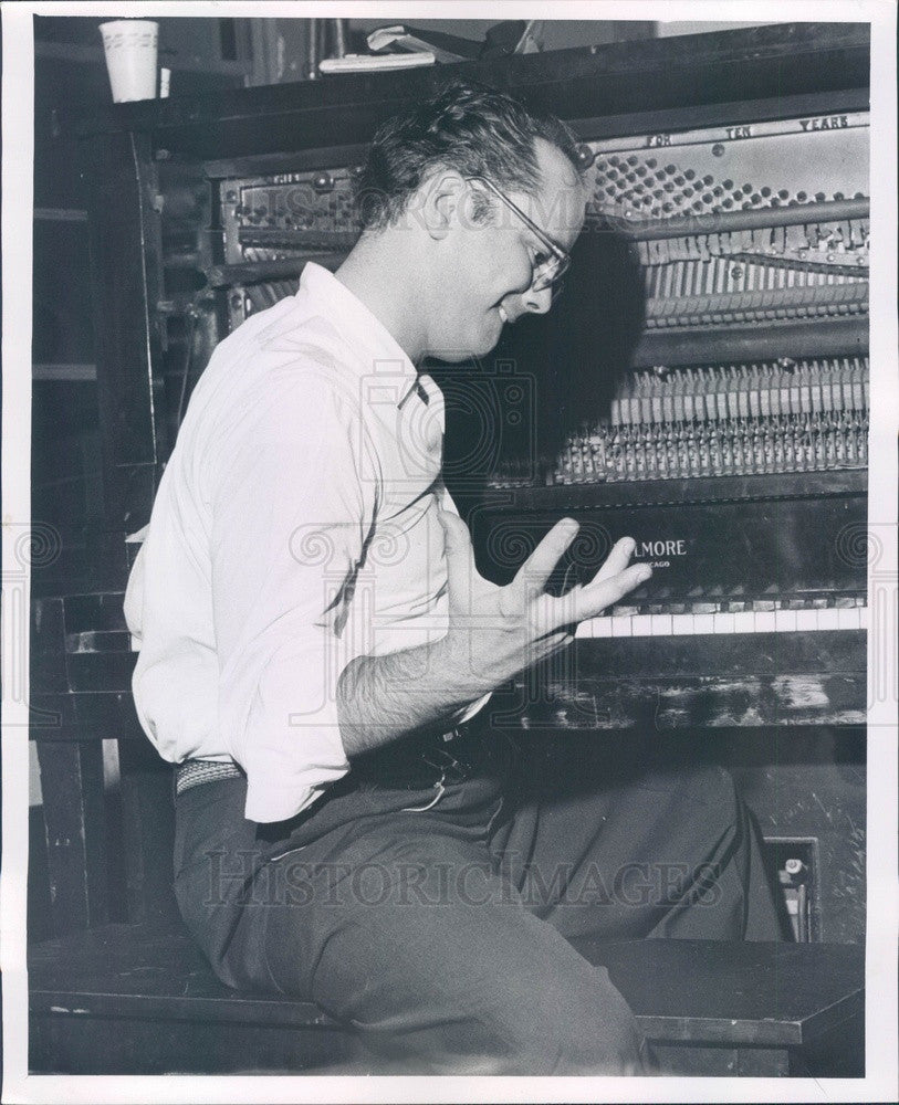 1958 Detroit MI Carmen Recording Studios Musical Director Ray Taylor Press Photo - Historic Images
