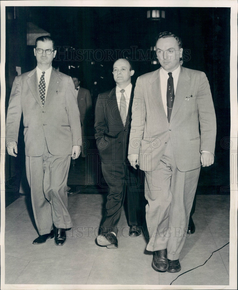 1954 Detroit, Michigan MI Communist Party Chairman Saul Wellman Press Photo - Historic Images