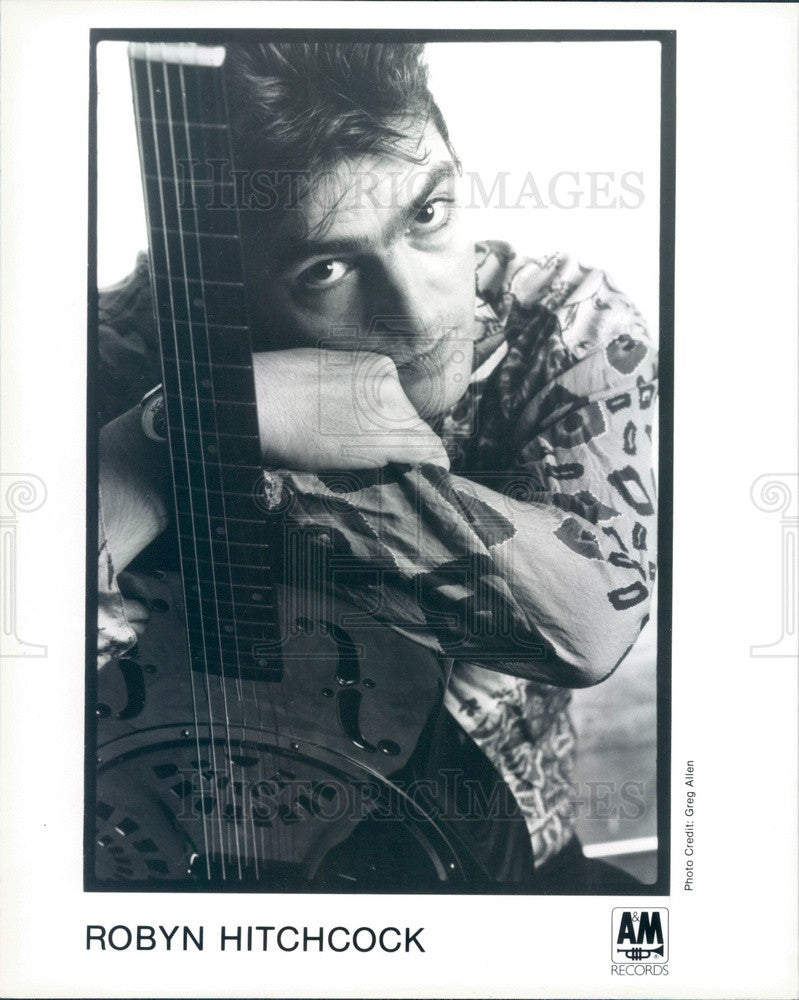 1995 English Singer/Songwriter/Guitarist Robyn Hitchcock Press Photo - Historic Images