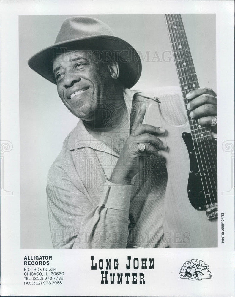 Undated American Blues Guitarist/Singer Long John Hunter Press Photo - Historic Images
