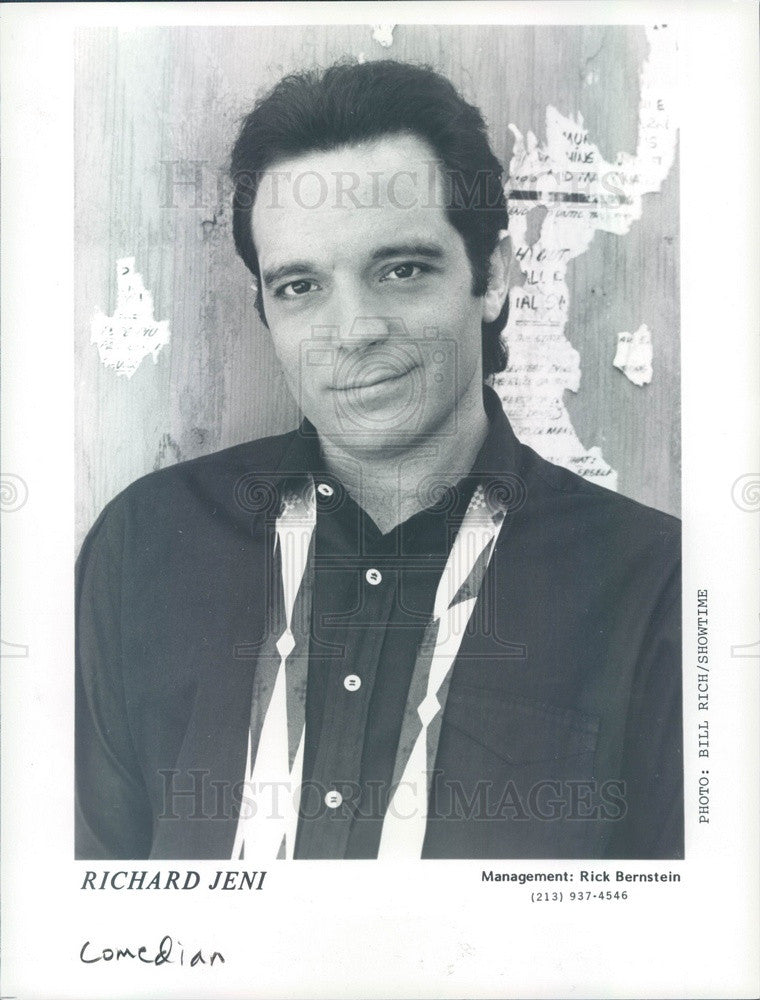 1990 American Hollywood Actor/Comedian Richard Jeni Press Photo - Historic Images