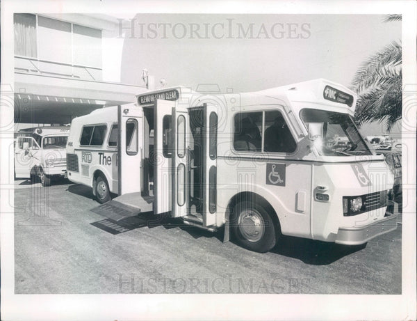 1974 St Petersburg, Florida Transportation for Handicapped Press Photo - Historic Images