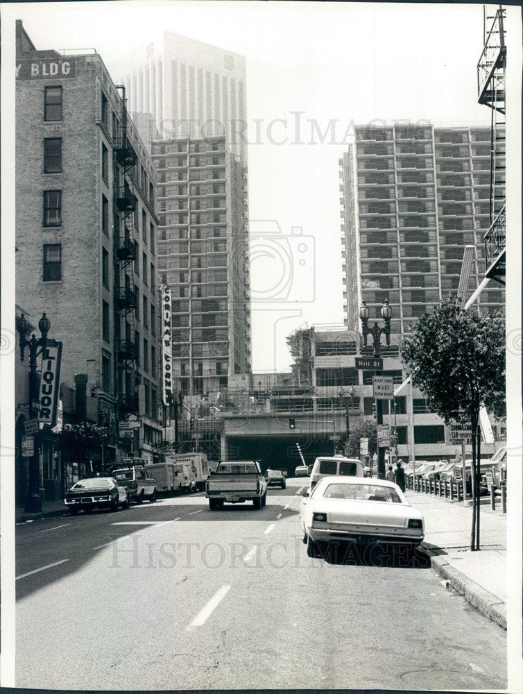 1980 Los Angeles, California Third & Hill Streets Press Photo - Historic Images