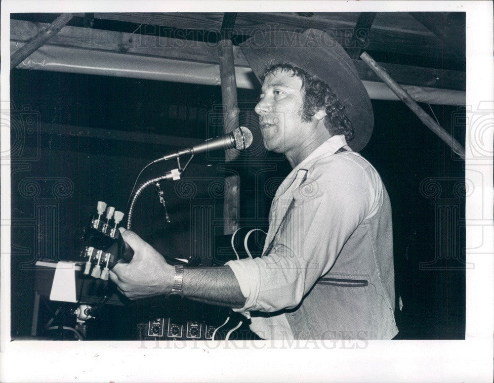 1980 Singer Songwriter Frank Cain Press Photo - Historic Images
