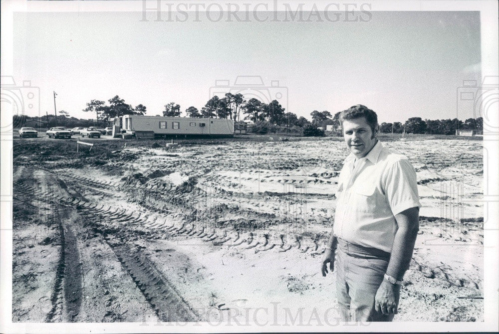 1979 Largo, Florida Christian TV Station WCLF Construction Press Photo - Historic Images