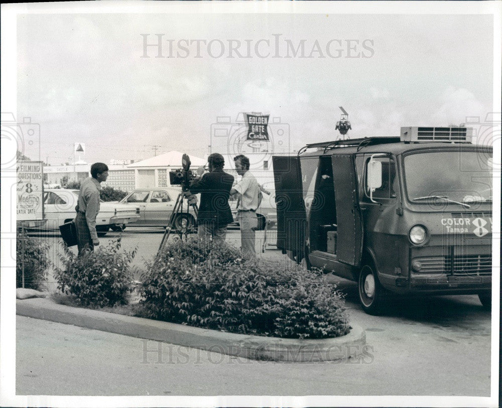 1972 Tampa, Florida WFLA-TV Station Town Meeting Program Press Photo - Historic Images