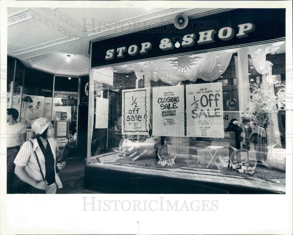 1983 Chicago, Illinois Stop & Shop, Washington St Press Photo - Historic Images