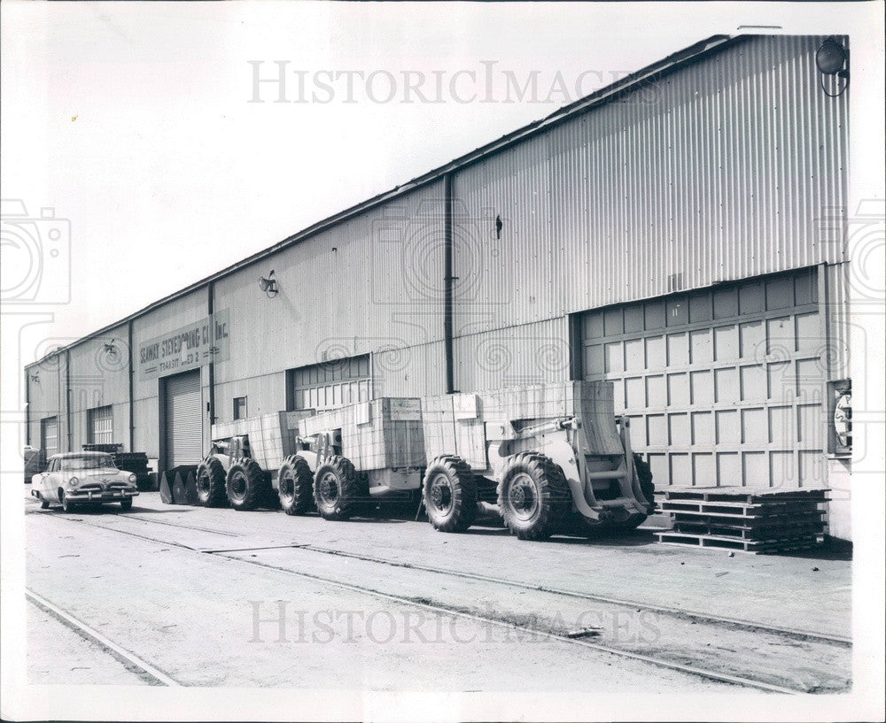 1960 Chicago, Illinois Calumet Port Warehouses During Dock Strike Press Photo - Historic Images