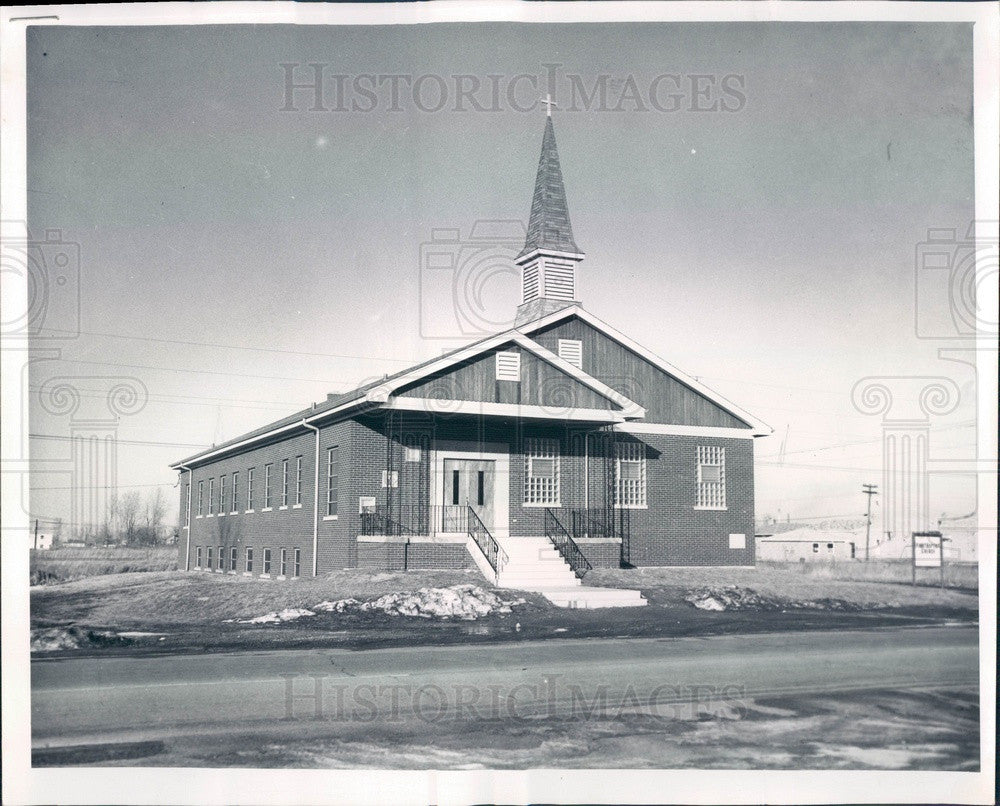 1961 Calumet City, Illinois First Baptist Church Press Photo - Historic Images