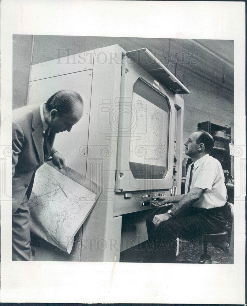 1965 Chicago, Illinois Pollak & Skan Topographic Map Projector Press Photo - Historic Images